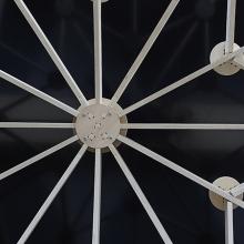 El contrachapado de chopo Fireshield inspira el Gothic Pavilion