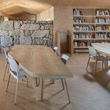 Former hospital transformed into modern public library