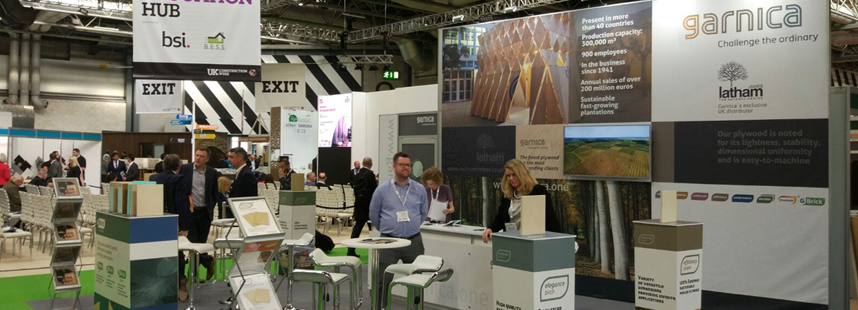 Garnica presents its products at the Timber Expo in Birmingham