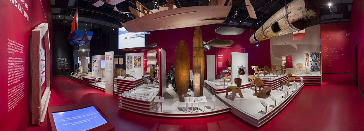 An exhibition at the Victoria & Albert Museum in London uses Garnica plywood