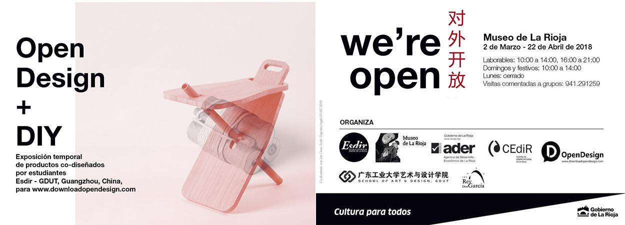Garnica colabora con la ESDIR en la exposición OpenDesign del Museo de La Rioja
