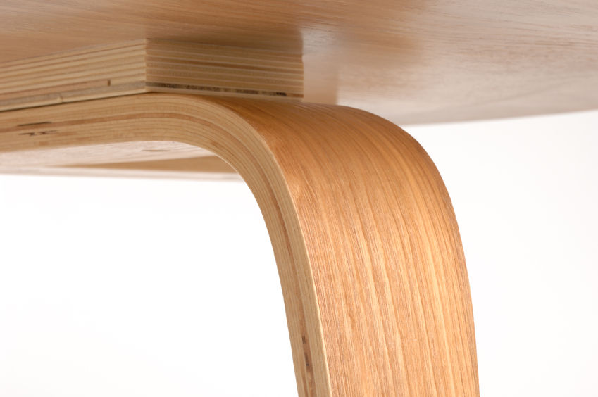Detail of a plywood chair