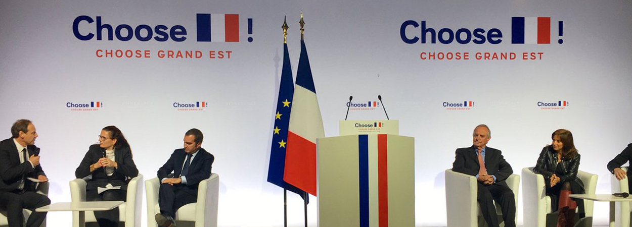 """Pedro Garnica was a speaker at the """"Choose France Grand Est"""" event presided over by French president Emmanuel Macron."""