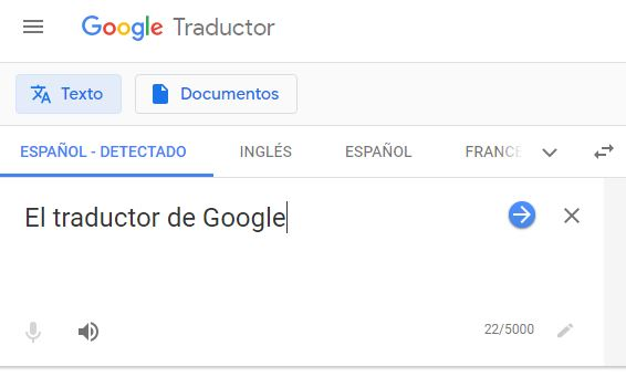 Traducir textos y documentos con Google Traductor