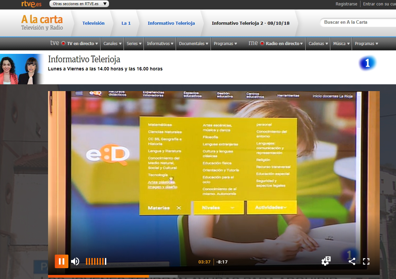 EDUCERE, el nuevo portal de recursos educativos de La Rioja. Press Clipping