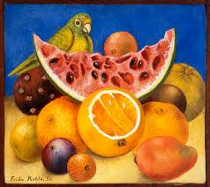 Still Life with Parrot and Fruit (Frida Kalho)