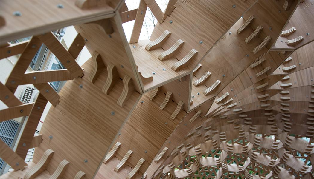 Bubble Pavilion, an interesting example of new timber-based