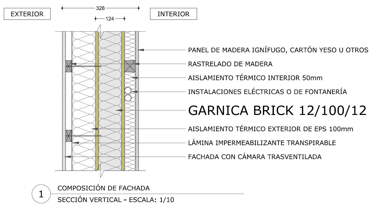 G brick paneles estructurales aislantes garnica for Panel aislante termico