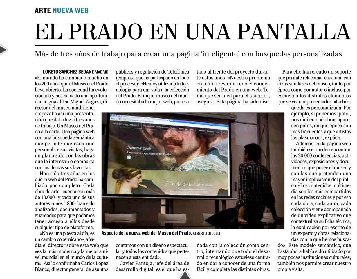 El Museo del Prado presenta su nueva Web realizada con tecnolog�a GNOSS