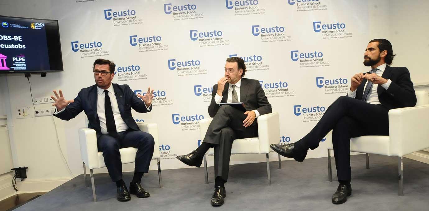 Miguel Zugaza y Ricardo A. Maturana dialogaron sobre Transformación Digital en la inaguración de los programas de liderazgo e innovación de la Deusto Business School. Madrid, 13 septiembre 2016
