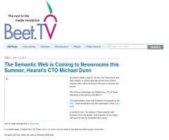 The Semantic Web is Coming to Newsrooms this Summer, Hearst's CTO Michael Dunn