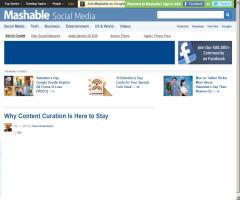 Why Content Curation Is Here to Stay (Mashable!)