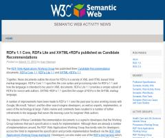 RDFa 1.1 Core, RDFa Lite and XHTML+RDFa published as Candidate Recommendations