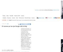 25 razones por las que Google odia tu blog : Marketing Directo
