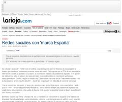 Redes Sociales con marca España - gnoss.com en el reportaje de Vocento