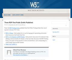 Publicados 3 borradores públicos sobre RDF 1.1. Three RDF First Public Drafts Published - W3C