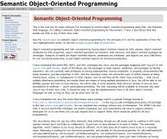 Semantic Object-Oriented Programming