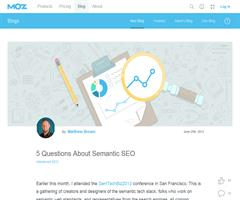 5 Questions About Semantic SEO