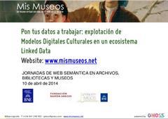 """GNOSS participó en la jornada """"Web Semántica en Bibliotecas, Archivos y Museos"""". 10/4. Madrid. Fundación Ramón Areces"""