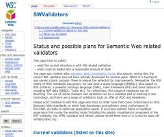 Semantic Web related validators