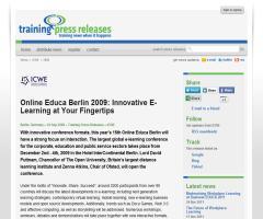 Online Educa Berlin 2009: Innovative E-Learning at Your Fingertips