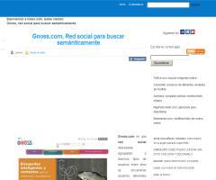Gnoss.com, Red social para buscar semánticamente (Ineex)