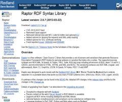 Raptor RDF Syntax Library