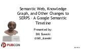 Timeline: Google and Semantic Web