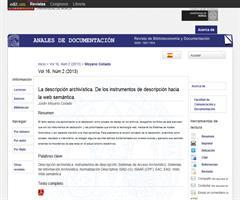 La descripción archivística. De los instrumentos de descripción hacia la web semántica.