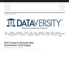 2017 Trends for Semantic Web and Semantic Technologies - DATAVERSITY