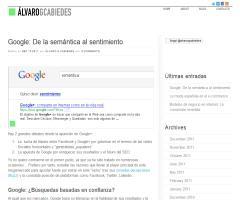 Google: De la semántica al sentimiento (Álvaro G. Cabiedes)
