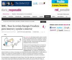 RSE.- Nace la revista Energía Creadora para innovar y ayudar a innovar