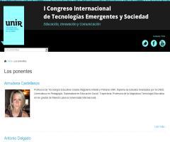 Ricardo A. Maturana participa en el I Congreso Internacional de Tecnologías Emergentes y Sociedad