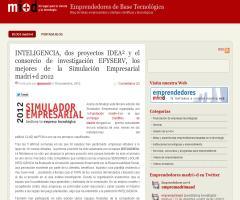 INTELIGENCIA, dos proyectos IDEA² y el consorcio de investigación EFYSERV, los mejores de la Simulación Empresarial madri+d 2012