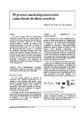 El Proceso Marketing-Innovación como Fuente de Ideas Creativas (por Miguel A. Palomo)