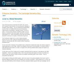 Local vs. Global Semantics