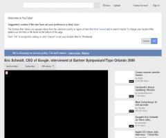 Entrevista sobre el futuro de la Red a Eric Schmidt, CEO de Google, en el Gartner Symposium/ITxpo Orlando 2009