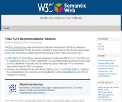 Three RDFa Recommendations Published | Semantic Web Activity News