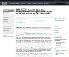 IBM compra Cloudant, proveedor de bases de datos como servicio (DBaaS)