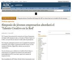 """Simposio de jóvenes empresarios abordará el """"Talento Creativo en la Red"""""""