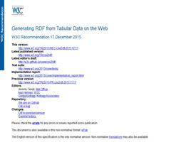 Generar RDF desde datos tabulares en la Web. Recomendación del W3C