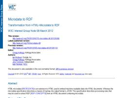 Transformation from HTML+Microdata to RDF