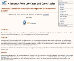 Case Study: Contextual Search for Volkswagen and the Automotive Industry (W3C)
