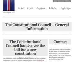 Islandia coordina su Constitución mediante la Web social